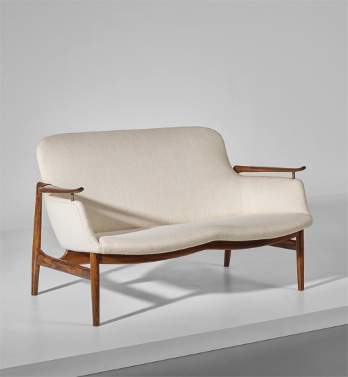 Astonishing Finn Juhl Two Seater Sofa Model No Fj 53 Designed 1953 Pabps2019 Chair Design Images Pabps2019Com