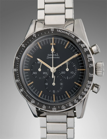 A very fine and well-preserved stainless steel chronograph wristwatch with tachymeter bezel and bracelet