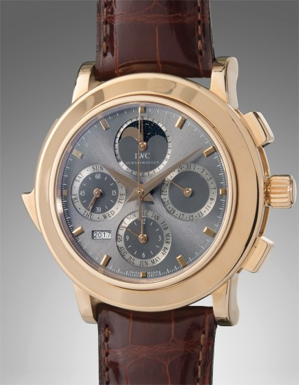 A fine and very rare limited edition oversized pink gold minute repeating perpetual calendar chronograph wristwatch, accompanied with boxes, paperwork, and warranty booklet
