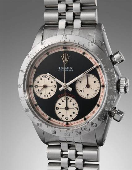 "A very fine and historically important stainless steel chronograph wristwatch with ""Paul Newman"" dial, awarded to LeeRoy Yarbrough, winner of the Daytona 500 in 1969"