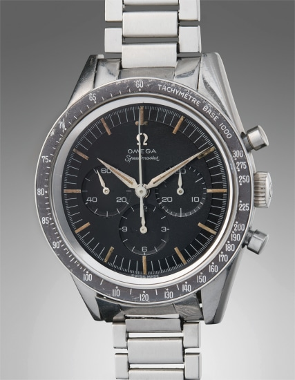 A very rare and highly attractive stainless steel chronograph wristwatch with tachymeter bezel and bracelet