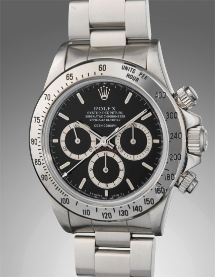 A very fine and rare stainless steel chronograph wristwatch with suspended logo and bracelet
