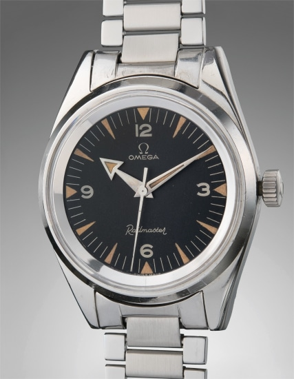 An extremely rare, large, and well-preserved stainless steel anti-magnetic wristwatch