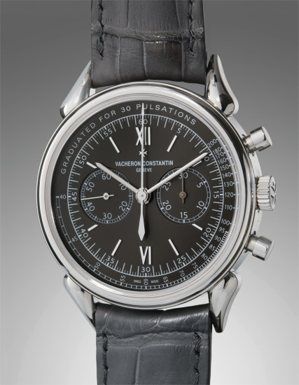 A very fine and rare stainless steel limited edition chronograph wristwatch with pulsations dial and unusual lugs, accompanied with original guarantee, additional straps, and presentation box