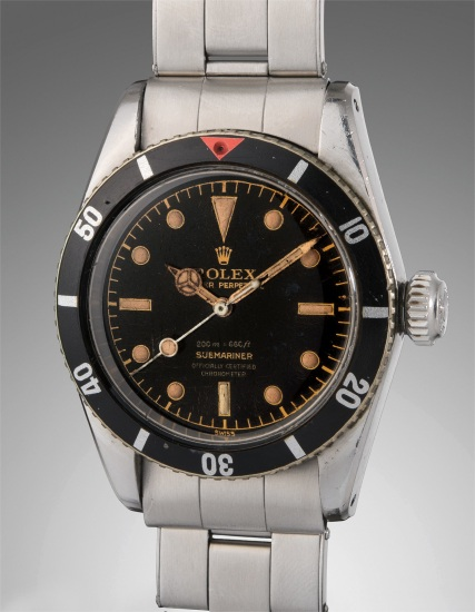 Rolex An Extremely Rare Well Preserved And Highly Attractive