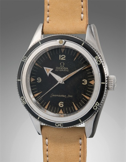 """A very fine and rare stainless steel diver's wristwatch with """"Broad Arrow"""" hands"""
