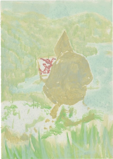 Figure in Mountain Landscape (The Big...)