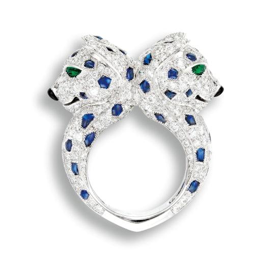 e39432057af5a Cartier - A Gem-set and Diamond 'Pantherè' Ribbon Bow Ring, Cartier ...