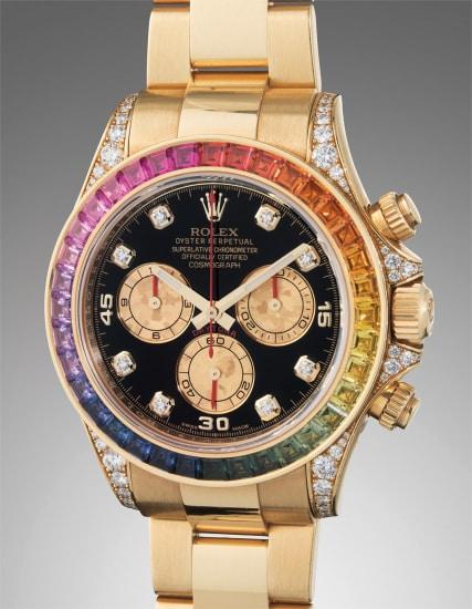 a35fd0e608052 A very rare, heavy and attractive yellow gold, diamond and rainbow-colored  multi