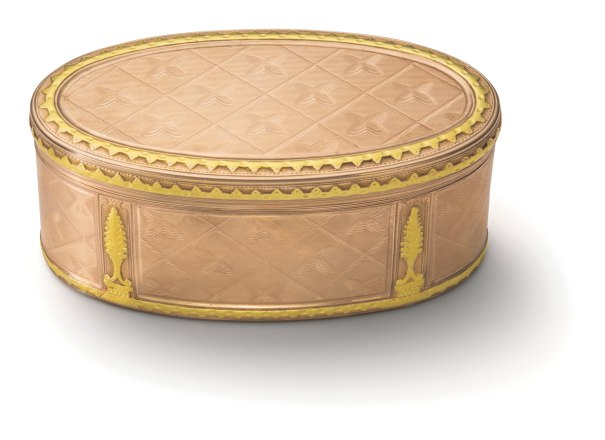 A Bicolored Gold Continental Snuff-Box
