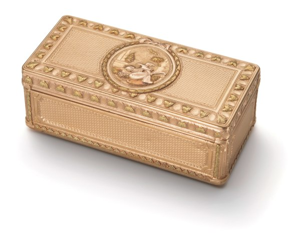 A Gold and Enamel Snuff-Box