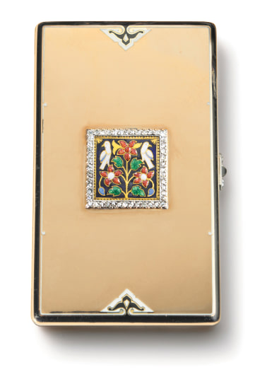 A Gold, Enamel and Diamond Case
