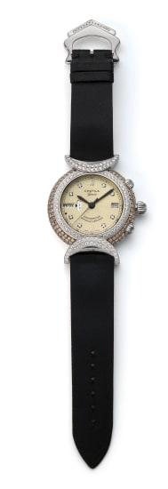 A Gold and Diamond 'Worldtime' Watch