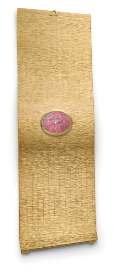 A Rare Gold and Rhodochrosite Bracelet Watch
