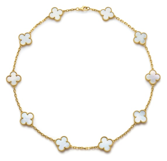 A Gold and Mother-of-Pearl 'Vintage Alhambra' Necklace