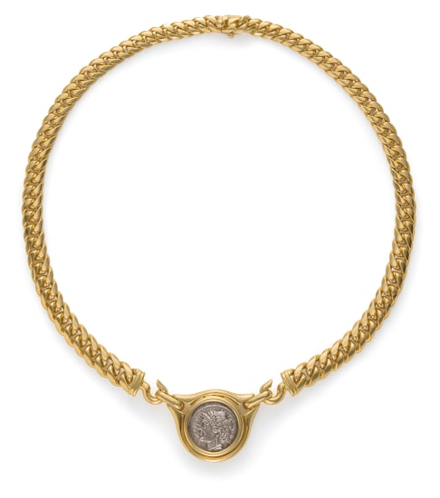 A Gold and Coin Necklace