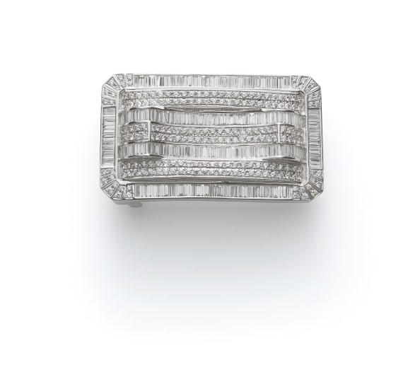 A Diamond Belt Buckle