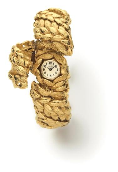 A Gold Watch Bracelet
