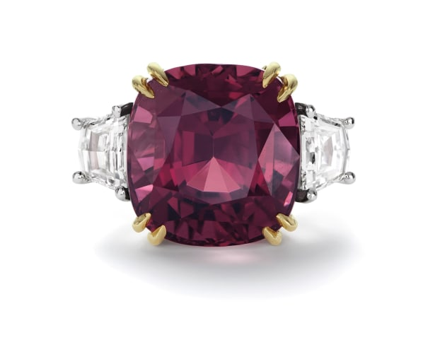 A Fine Burmese Spinel and Diamond Ring