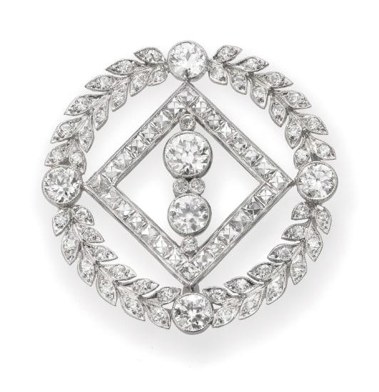 A Belle Époque Diamond Brooch