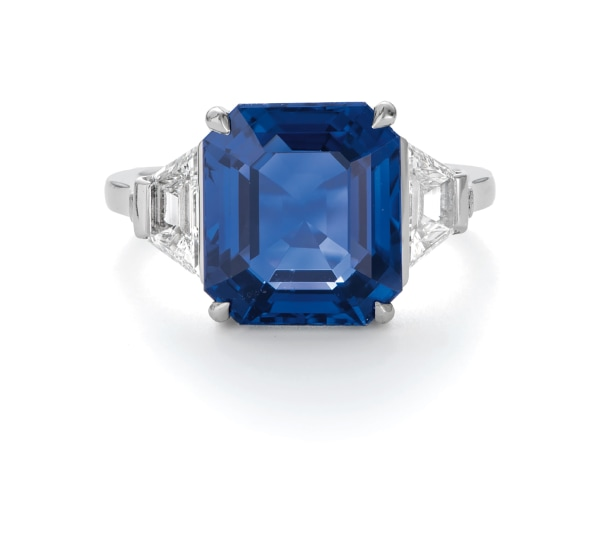 A Fine Burmese Sapphire and Diamond Ring