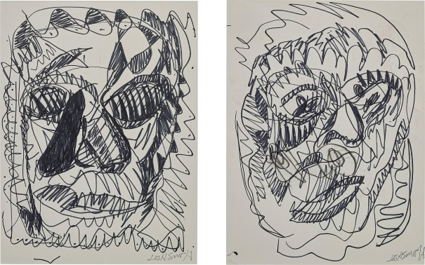Two works: i) Untitled (Portrait of a woman); ii) Untitled (Portrait of a man)