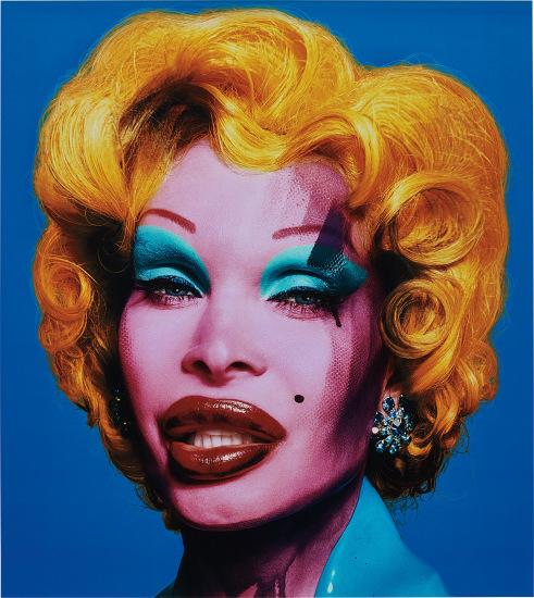 Amanda as Marilyn (blue)