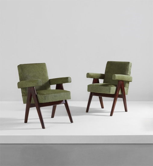 """Pair of """"Committee"""" armchairs, model no. PJ-SI-30-A"""
