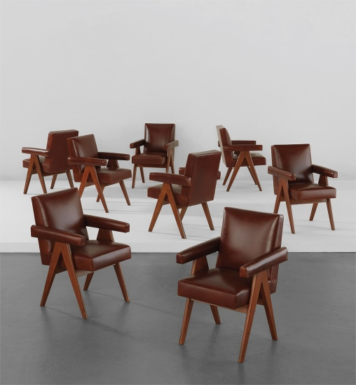 """Set of eight """"Committee"""" armchairs, model no. PJ-SI-30-A"""