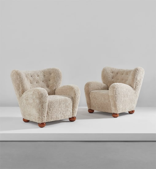Pair of armchairs, designed for the Hotel Aulanko, Hämeenlinna, Finland