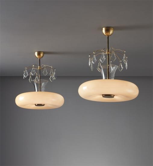 Pair of ceiling lights