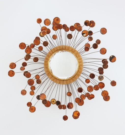"""Unique """"Satellite Orange"""" mirror"""