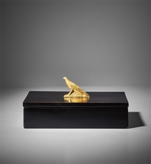 """Bird,"" mounted on box"