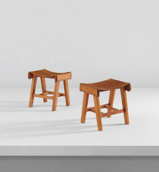 Pair of stools from the Cuadra San Cristóbal, Mexico City