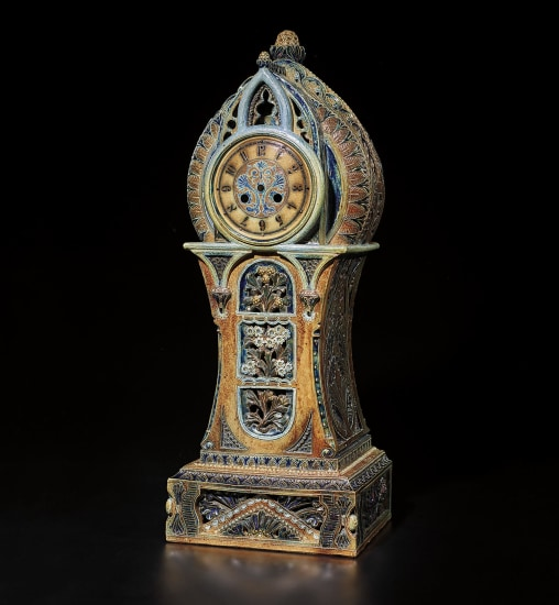 Exceptional and monumental mantel clock case