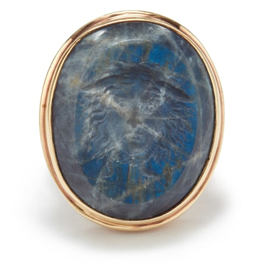 A Labradorite and Gold Ring