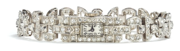 An Art Deco Diamond Watch