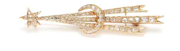 An Antique Gold and Diamond Brooch