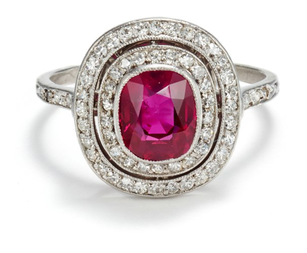 A Belle Époque Ruby and Diamond Ring