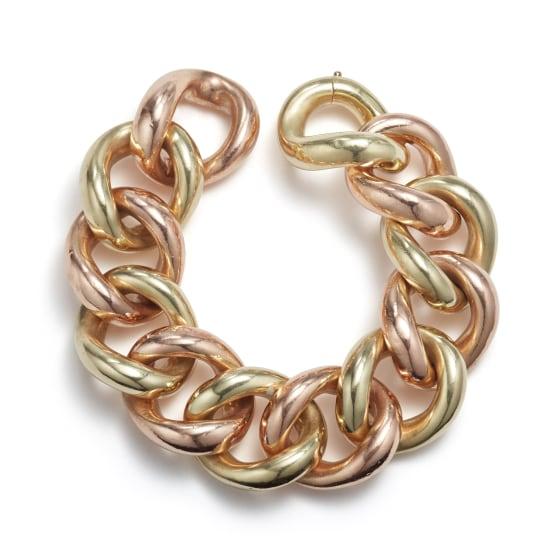 A Retro Bicolored Gold Bracelet