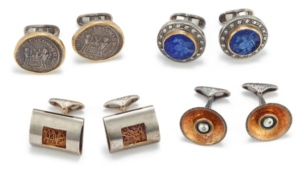 A Collection of Four Pairs of Cufflinks