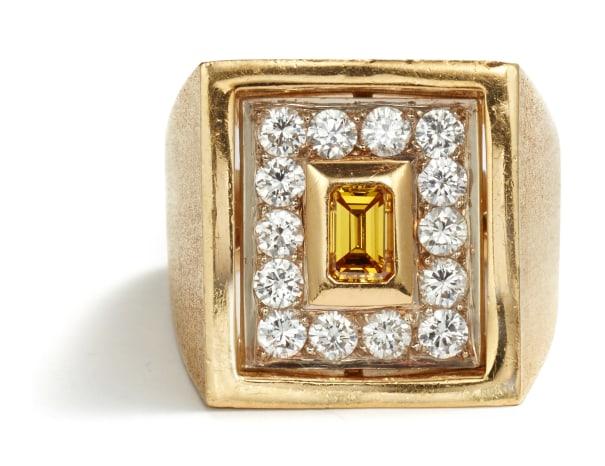 A Treated Diamond and Diamond Ring