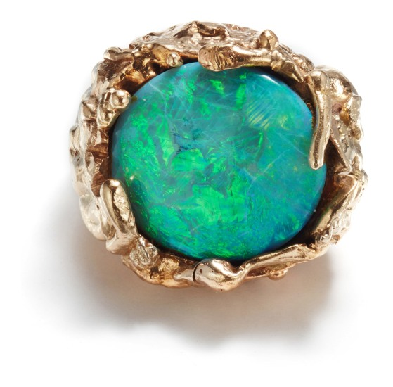 A Gold and Opal Ring