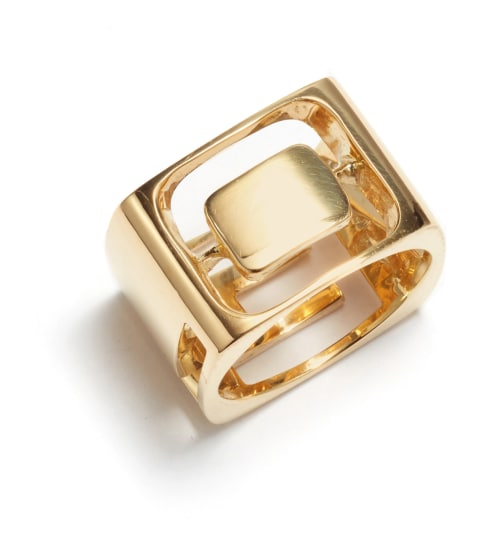 A Gold 'LOVE' Ring