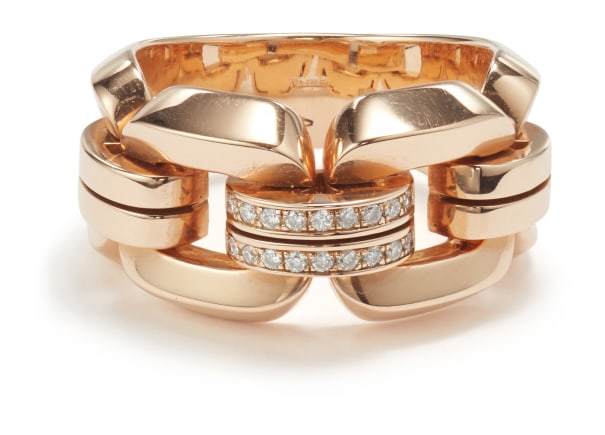 A Rose Gold and Diamond Ring
