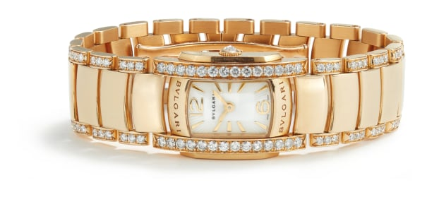 A Gold and Diamond 'Assioma' Watch