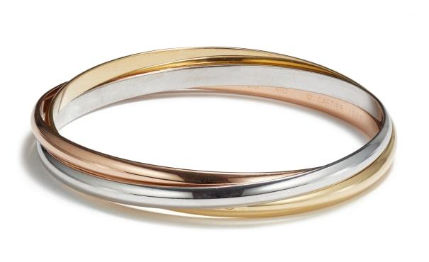 A Gold 'Trinity' Bangle Bracelet