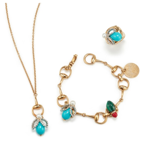 A Suite of Gold, Diamond, Cultured Pearl, Turquoise, Malachite and Coral Jewelry