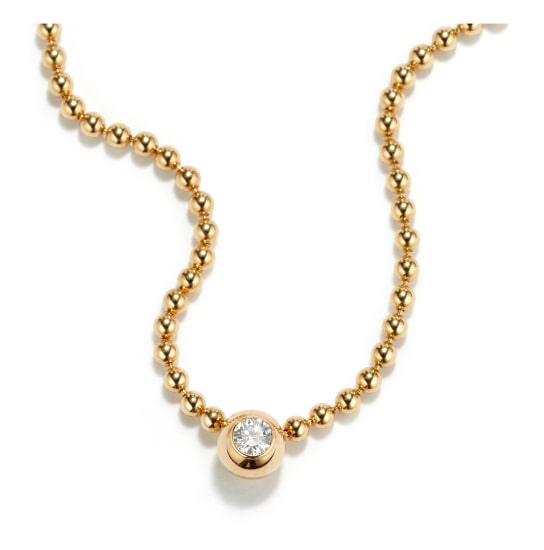 A Gold and Diamond 'Draperie' Necklace