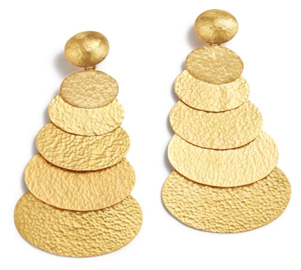 A Pair of Gold 'Mango' Earrings